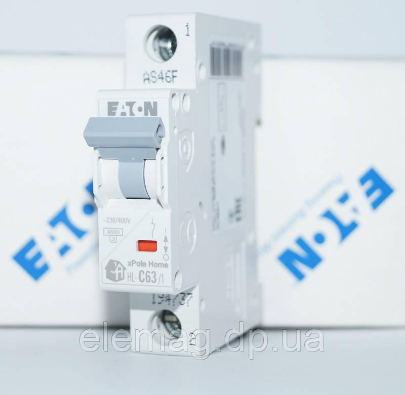 Автоматический выключатель 63 А тип C 1 полюс HL-C63/1 Eaton 194737