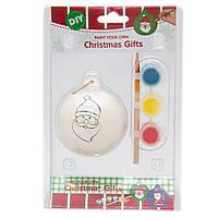 Детский набор для творчества - шарик, 3 краски, кисточка, (791675)