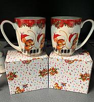 Набор из 2 чашек Новогодние Мышки 985-049-2. Символ 2020 года