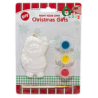 Детский набор для творчества - Дед Мороз, 3 краски, кисточка, (791767)