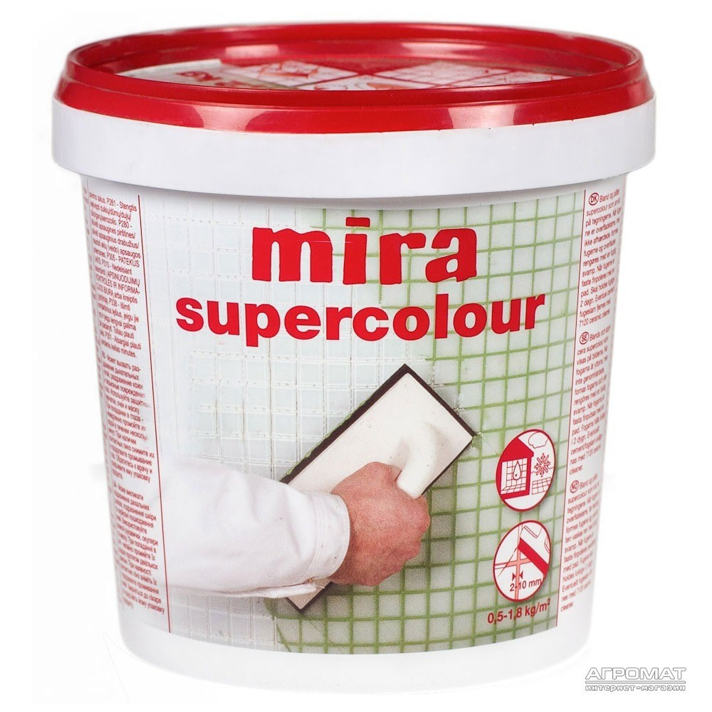 Затирка Mira supercolour №115/1,2кг (серебристо-серая)