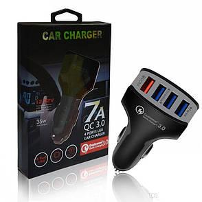 Автомобильное зарядное устройство Car Charger 4 ports USB, фото 2
