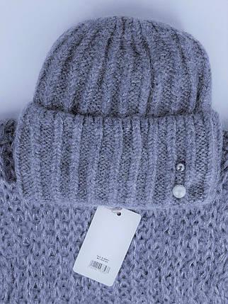 Комплект (шапка и снуд-хомут) Flirt Лика-Морган One Size джинс, фото 2