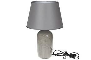 Лампа настольная с керамическим основанием и тканевым абажуром, 44,5см, цвет - серый графит BonaDi 491-334