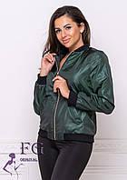 Короткая курточка женская прямого кроя. бомбер
