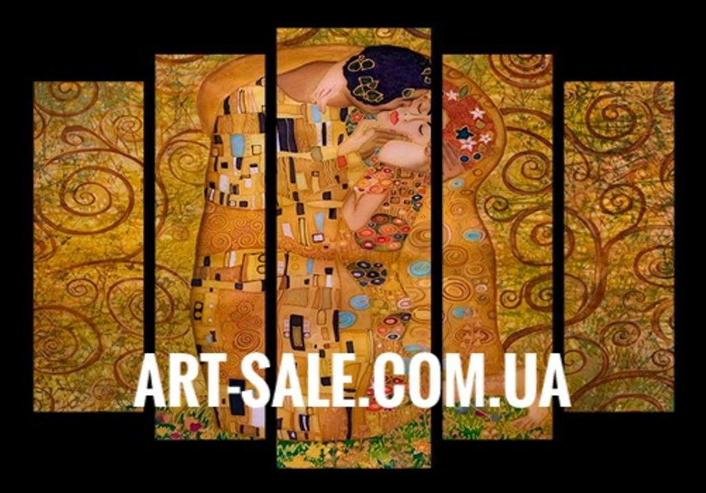 Модульная картина Поцелуй Климт