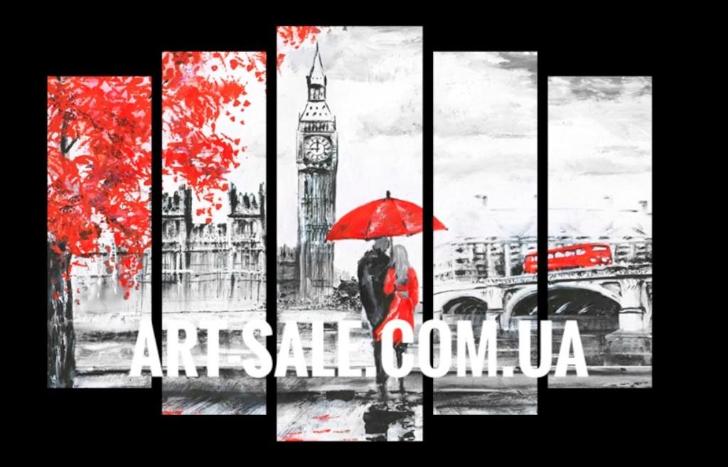 Модульная картина Влюбленные в Лондоне