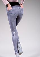 Женские замшевые лосины с карманами,эко замш, фото 1