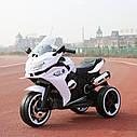 Дитячий електромобіль Мотоцикл M 3688 EL-1, BMW, Шкіряне сидіння, EVA-гума, білий, фото 2