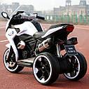 Дитячий електромобіль Мотоцикл M 3688 EL-1, BMW, Шкіряне сидіння, EVA-гума, білий, фото 3