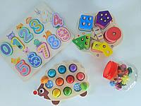 """Детские настольные деревянные развивающие игрушки  """"Набор игрушек для малыша"""" (4 игрушки)"""