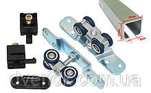 Раздвижная система для межкомнатных дверей EKF E-120100-02 (40кг) с 2 м профилем