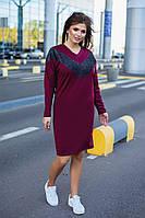 Платье большого размера / итальянский трикотаж, люрикс / Украина 6-913-1, фото 1