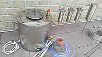 Дистиллятор с разборными сухопарниками под проточную воду. Аппарат. Куб .Бак. С теном. Дистилятор