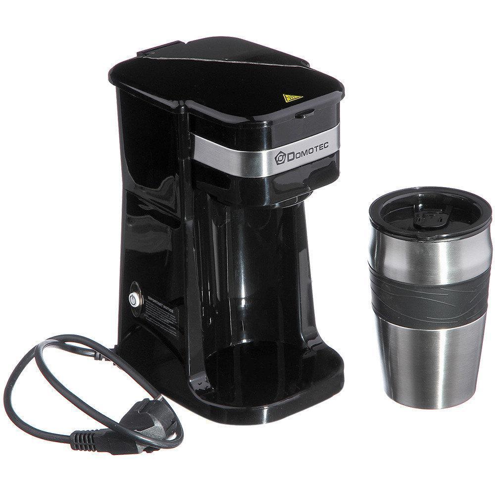 Кофеварка Domotec с термостаканом MS-0709, 700Вт.