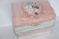 Полотенца для лица махра 6 шт. Цветок