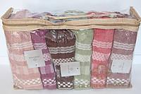 Полотенца для лица разные цвета 6 шт.