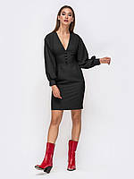 Вечернее Платье-футляр черное мини 44 46 48
