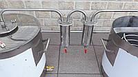 Дистиллятор с разборными сухопарниками под  НЕ проточную воду. Аппарат. Куб .Бак. С теном. Дистилятор  30л