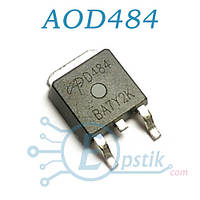 AOD484, Mosfet транзистор N channel, 30V 25A, TO252