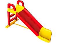Детская горка для дома и квартиры пластиковая Долони 0140/02 красная с желтым