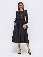Теплое платье черное с длинным рукавом 42-44 46-48 50-52