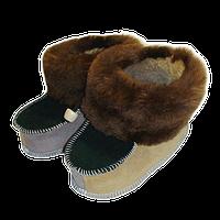 Натуральна кожаная детские пинетка 12 см.