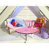"Домик для кукол Барби. Домик для кукол LOL ""LITTLE FUN""  мебель, шторки, обои, текстиль (400х200х400 мм) - Фото"
