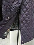 Зимнее женское приталенное стеганное пальто, баталл VS 157, фото 10