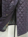 Зимове жіноче приталене стеганное пальто, баталл VS 157, фото 10
