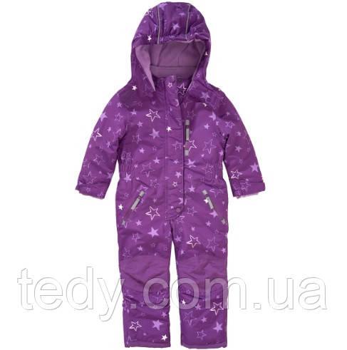 Цельный термокомбез для девочки TOPOLINO фиолет звезды