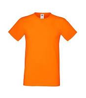 Мужская футболка Sofspun цвет Белый Fruit of the Loom  от 1 шт Оранжевый