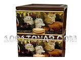 "Комод пластиковый, с рисунком ""Котята"", 4 ящика, фото 2"