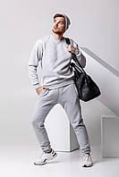 Зимний мужской спортивный костюм - серый теплый свитшот и серые теплые штаны / ОСЕНЬ-ЗИМА