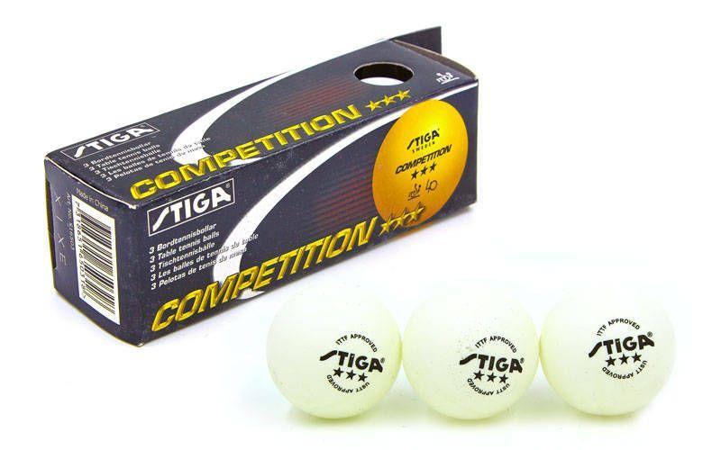 Шарик для настольного тенниса STIGA CUP MT-4578 (целлулоид, d-40мм, белый) Replika