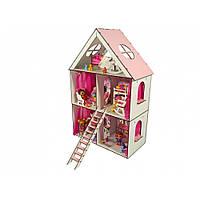 "Домик для кукол LOL ""LITTLE FUN MAXI"" с обоями, мебелью, текстилем и шторками (620х200х400 мм)"