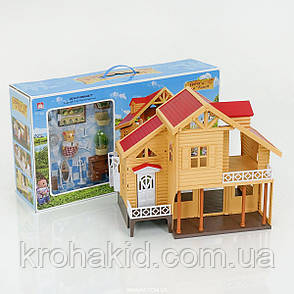 Будиночок з флоксовыми тваринами Happy Family 012-03 Заміський Будиночок (аналог Sylvanian Families), фото 2