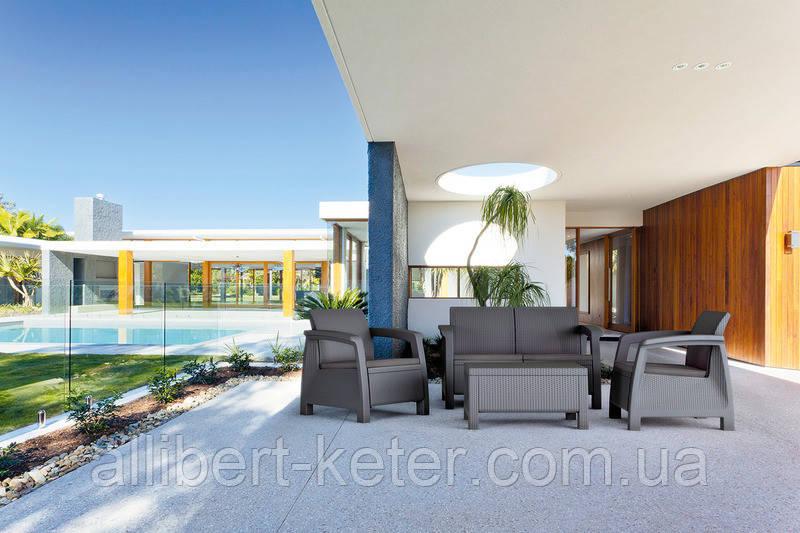 Набір садових меблів Bahamas Set зі штучного ротанга ( Allibert by Keter )