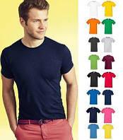 Мужская футболка Sofspun цвет Белый Fruit of the Loom  от 100 шт