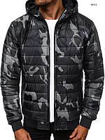 Куртка мужская хаки весенняя. Размер  M, L,XL,XXL Стильный мужской бомбер камуфляж