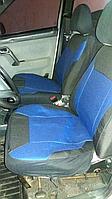 Чехлы сидений ВАЗ 2110с синими вставками