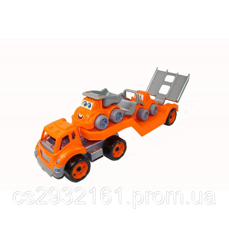 ТЕХНОК Автовоз со стройтехникой в коробке