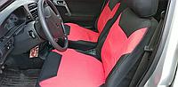 Чехлы сидений ВАЗ 2110с красными вставками