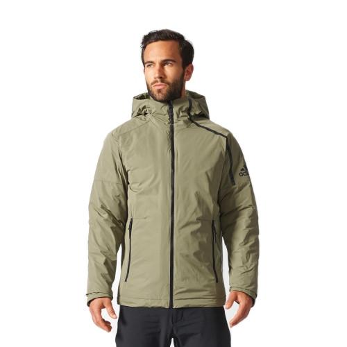 Чоловіча куртка Adidas ZNE Down Jacket BQ6799 кольору хакі