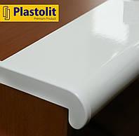Прочный подоконник Plastolit Белый Глянец, 250 мм