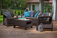 Набор садовой мебели Bahamas Set Brown ( коричневый ) из искусственного ротанга ( Allibert by Keter )