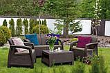 Набор садовой мебели Bahamas Set Brown ( коричневый ) из искусственного ротанга, фото 4
