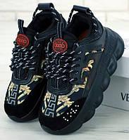 Женские Кроссовки Versace Chain Reaction Black