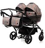 Универсальная коляска для двойни Tako Corona Duo 01 бронзовая, фото 3