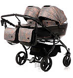 Универсальная коляска для двойни Tako Corona Duo 01 бронзовая, фото 4